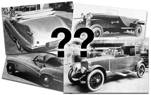 Unidentified Coachbuilt Vehicles